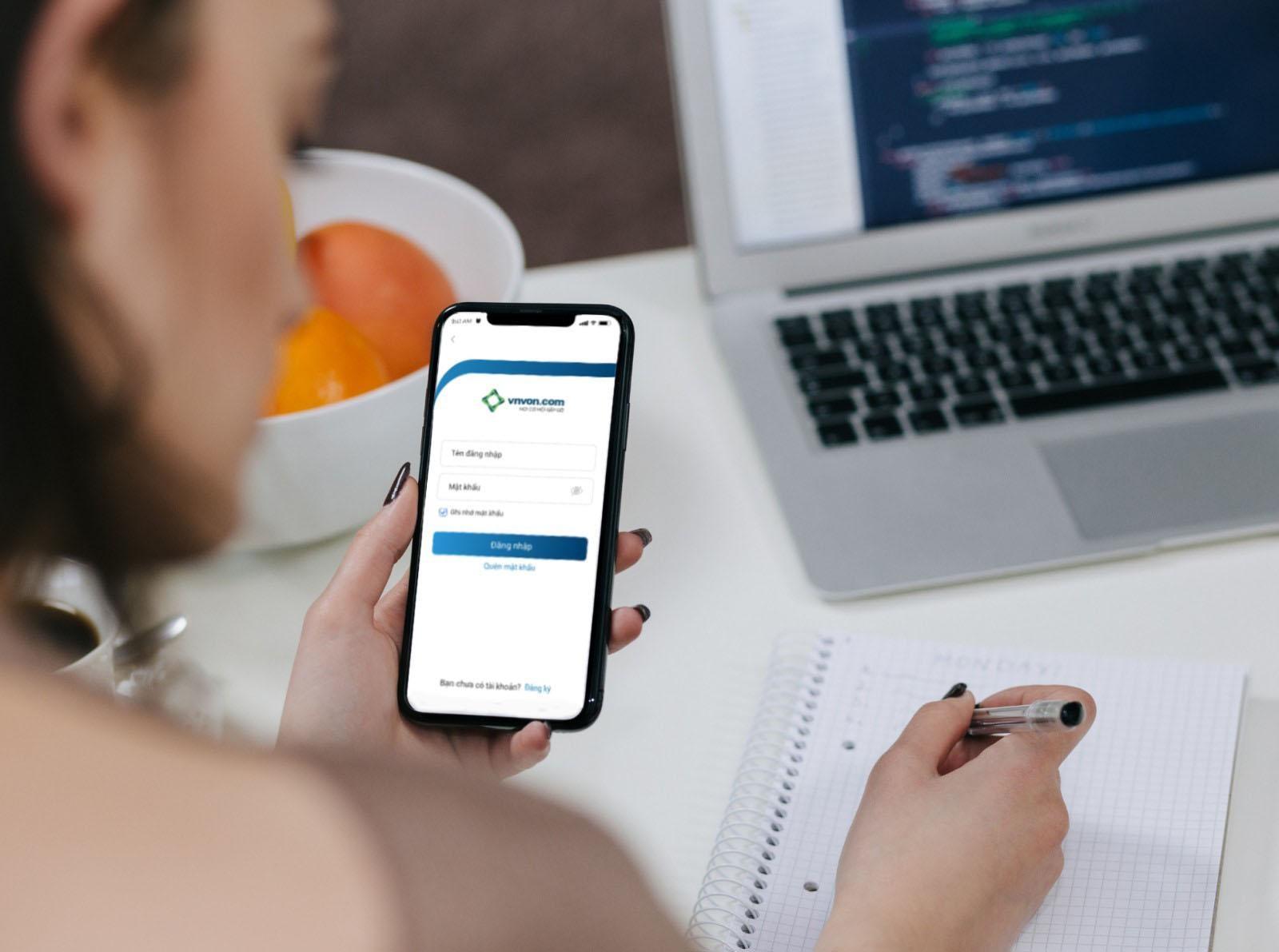 VNVON ra mắt ứng dụng đầu tư ngang hàng trên điện thoại